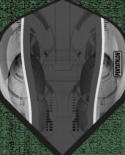Pentathlon Silver Edge Grey   McKicks Flights   Darts Warehouse