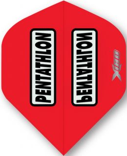 Pentathlon X 180 Red   McKicks Dartflights   Darts Warehouse