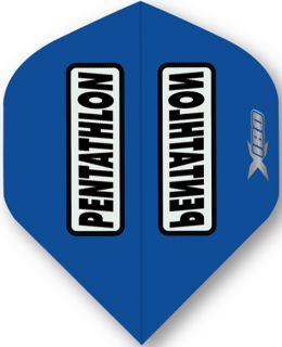 Pentathlon X180 Blue   McKicks Dartflights   Darts Warehouse