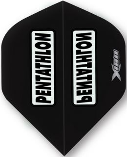 Pentathlon X180 Black   McKicks Dartflights   Darts Warehouse
