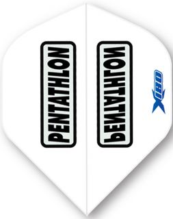 Pentathlon X180 White   McKicks Flights   Darts Warehouse