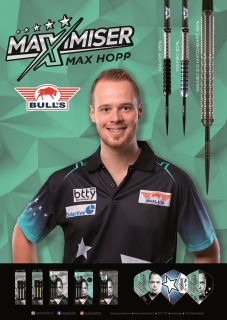 Max Hopp Player Poster Bull's NL Darts | Darts Warehouse