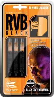 Softtip RVB Black Brass Target Raymond van Barneveld | Dartswarehouse