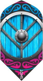 Shot Branded Slim Flight Viking Shield Maiden | Darts Warehouse