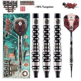 Shot Ronin Makoto 1 FW 90% Softtip Darts   Darts Warehouse