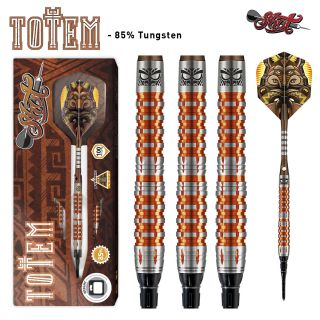Shot Totem 3 85% Orange Softtip Darts   Darts Warehouse