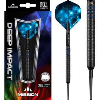 Mission Deep Impact 80% M4 Black Blue Softtip   Darts Warehouse
