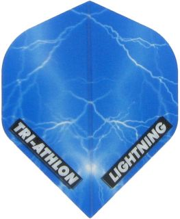 Triathlon Lightning Std. Clear Blue | Darts Warehouse