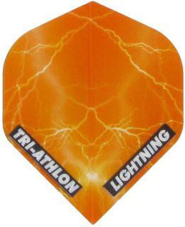Triathlon Lightning Std. Clear Orange | Darts Warehouse