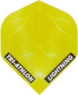 Triathlon Lightning Std. Clear Yellow | Darts Warehouse
