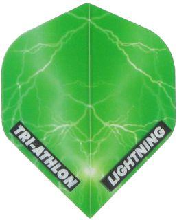 Triathlon Lightning Std. Clear Green | Darts Warehouse