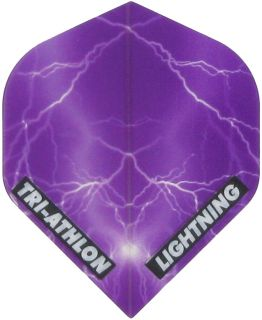Triathlon Lightning Std. Clear Purple | Darts Warehouse