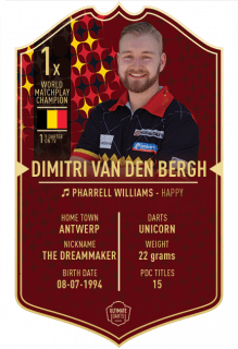 Ultimate Card Dimitri Van den Bergh 37x25 cm | Darts Warehouse